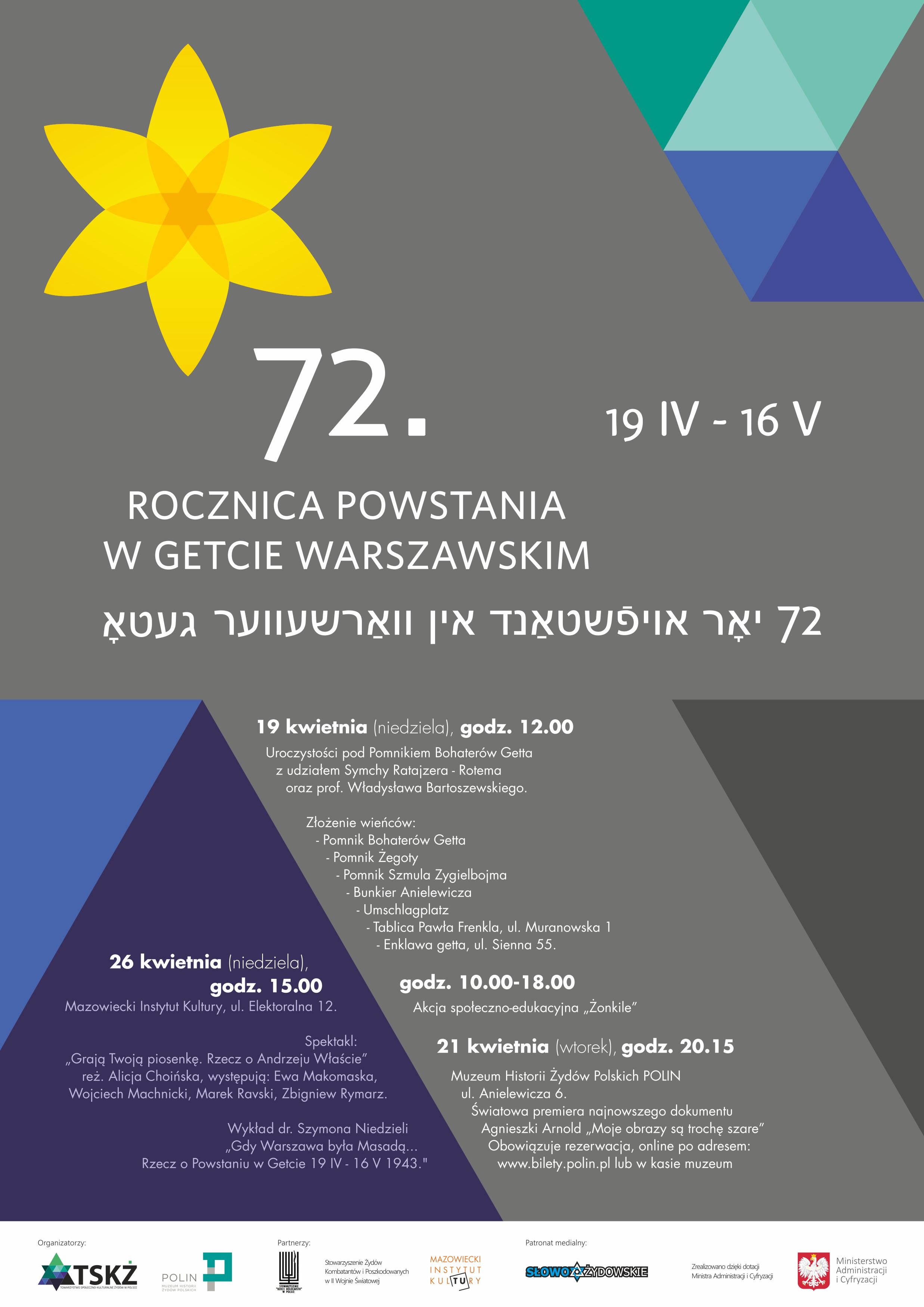 72 rocznica powstania w getcie